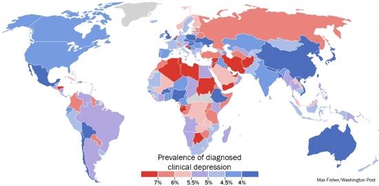 Ученые составили карту депрессии